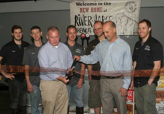 River Horse Ribbon Cutting